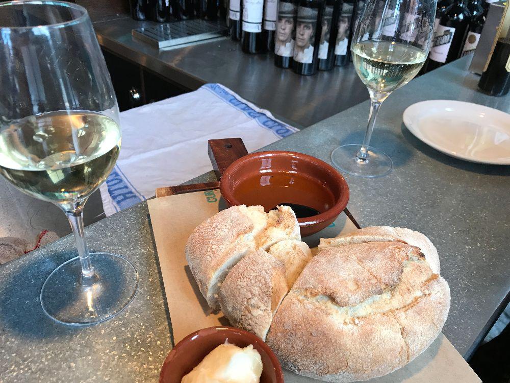 galician bread with garlic mayo at Curado Cardiff