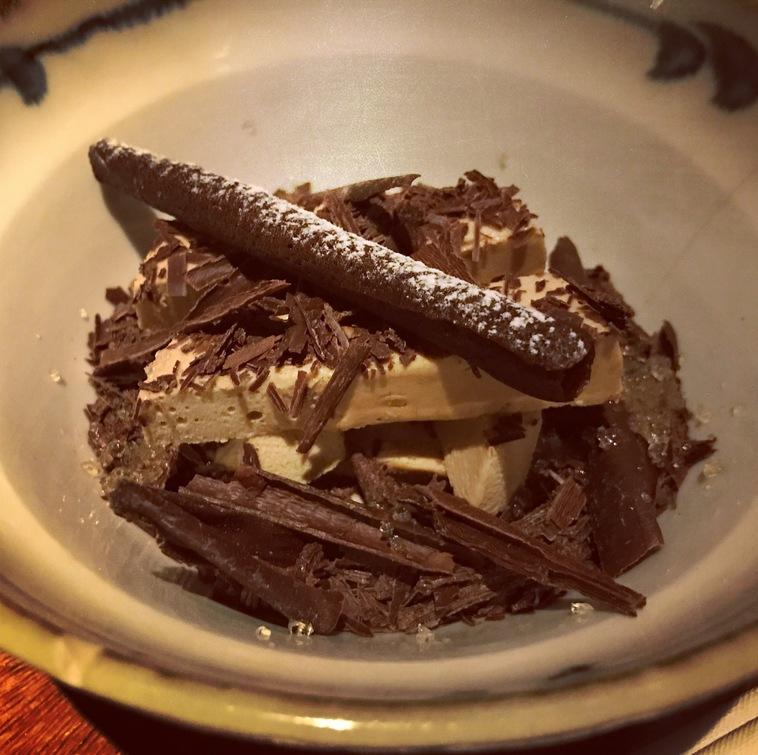 chocolate and Nikka Japanese Whisky dessert Zuma Rome