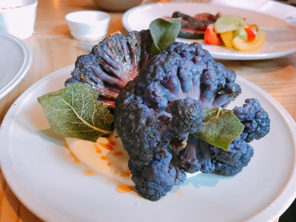 charcoal spiced cauliflower Asador 44 Cardiff