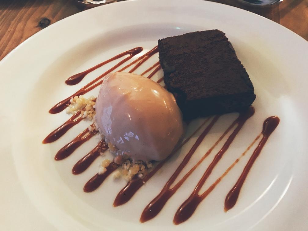 chocolate brownie ice cream dessert Jols Merthyr