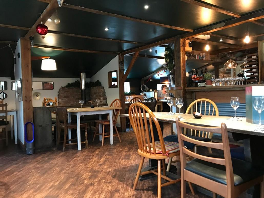 Inside The Marram Grass Restaurant in Anglesey