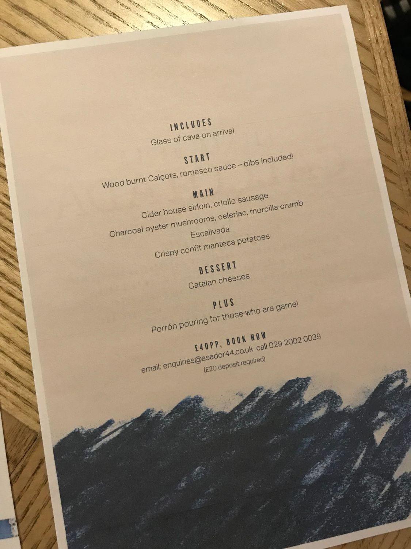 fiesta de la colcotada menu at Asador 44