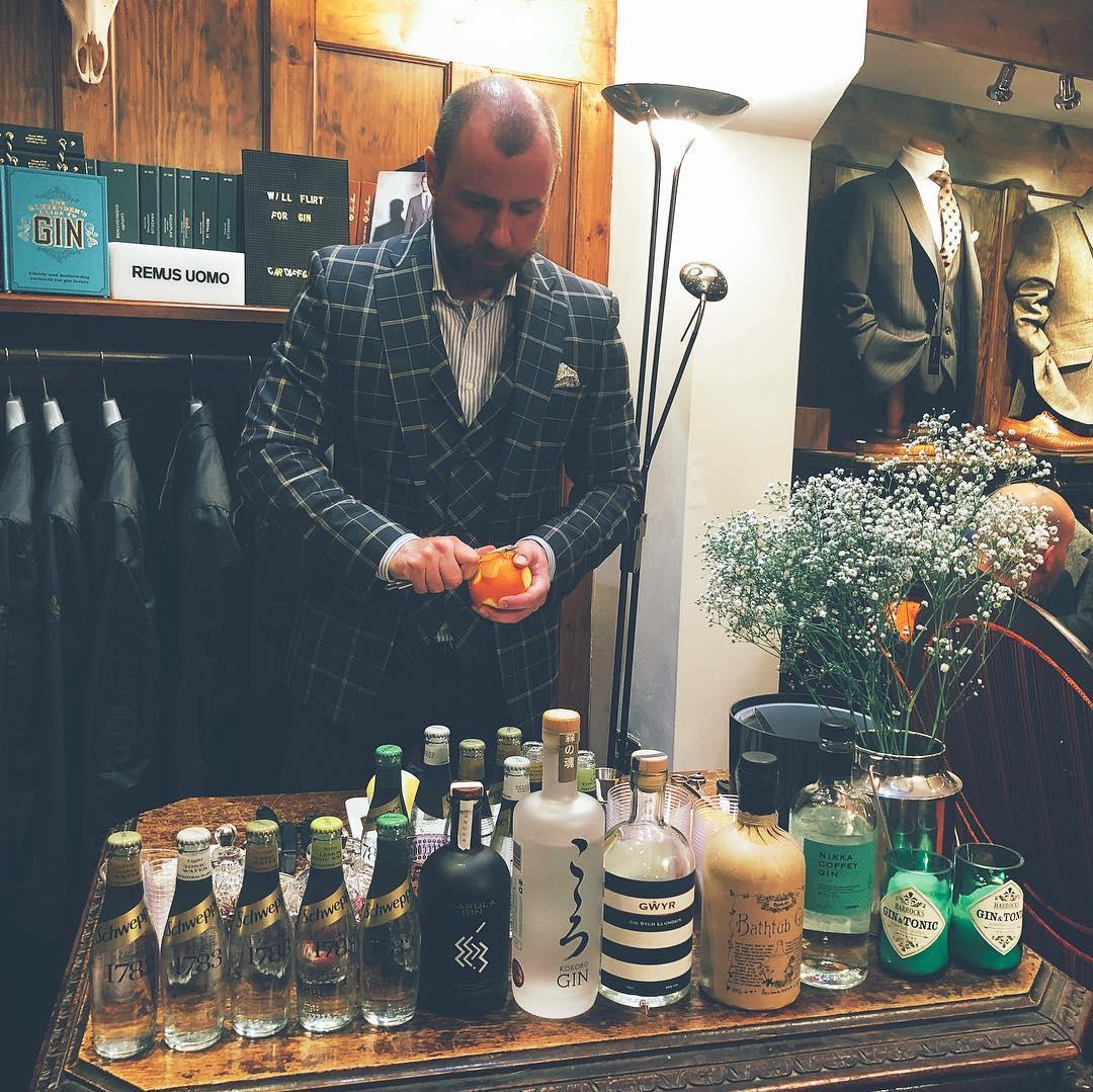 Cardiff Gin Club pop up gin tasting at Hawkes Bespoke Cardiff