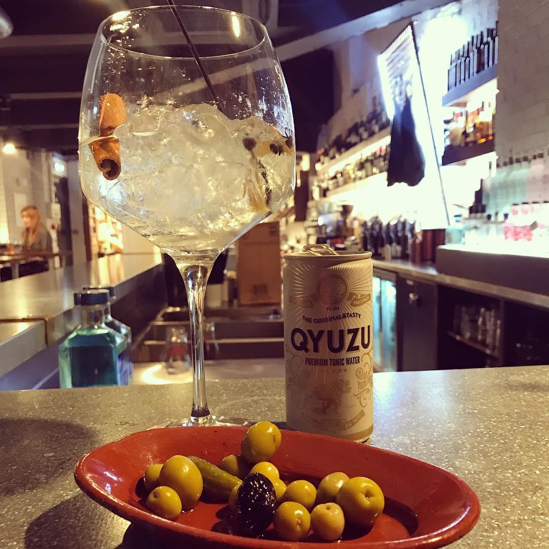 Gin and yuzu tonic at Curado Bar Cardiff