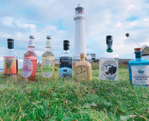 gin tasting on Flatholm Island with Cardiff Gin Club