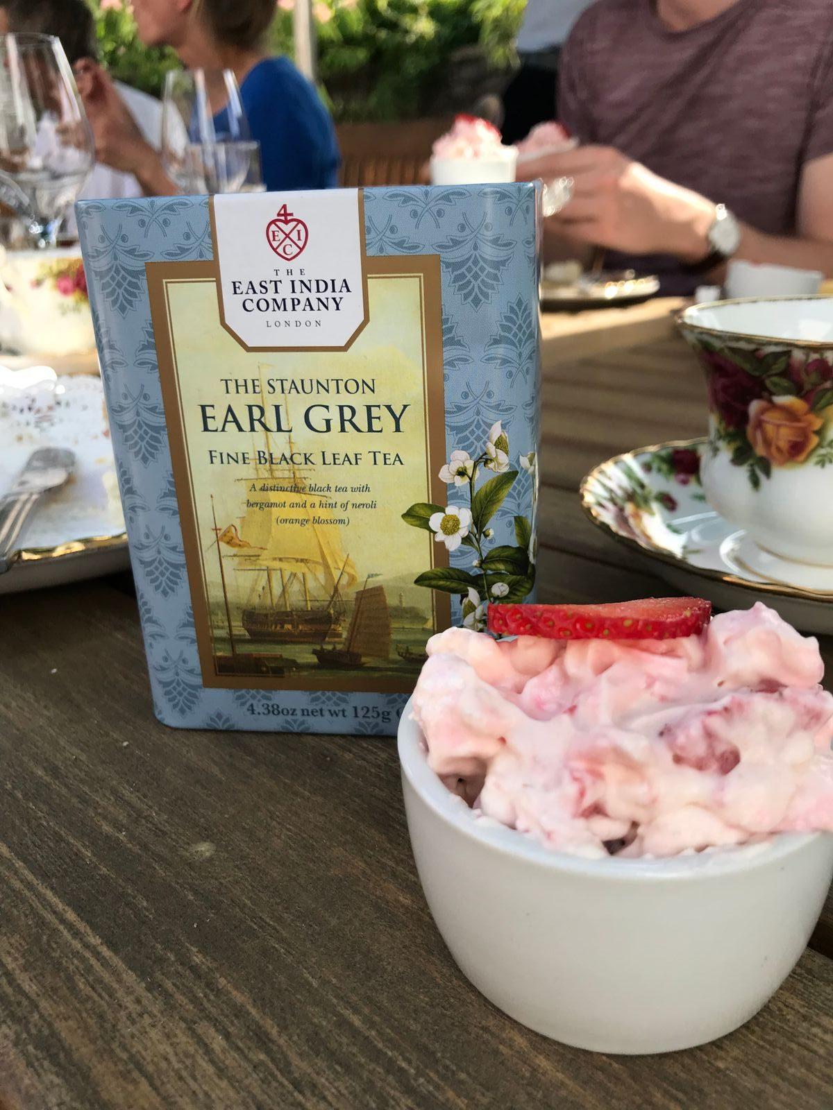 Earl Grey Tea with eton mess at The Angel Hotel Abergavenny