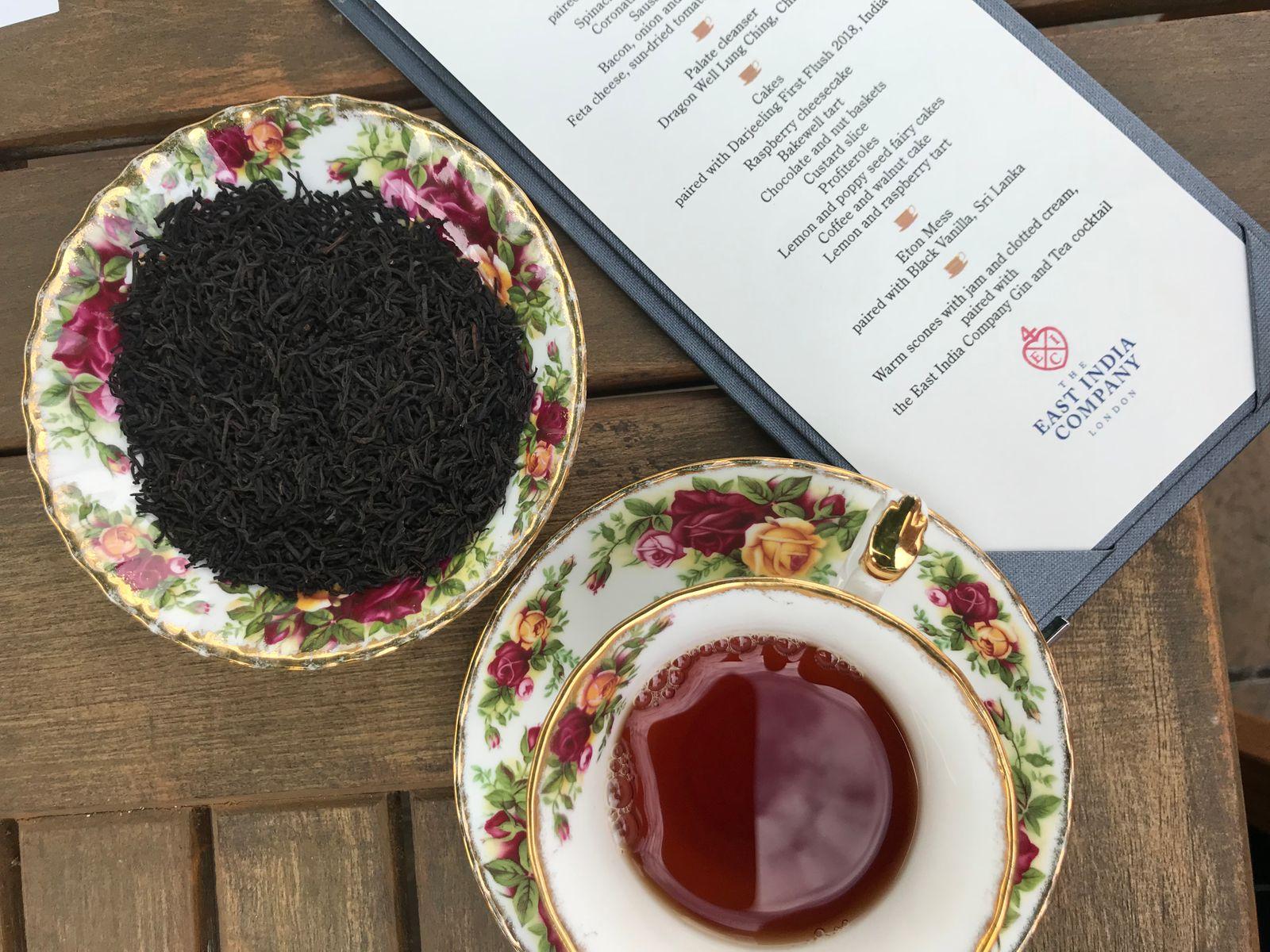 The East India Company loose leaf tea at The Angel Hotel Abergavenny