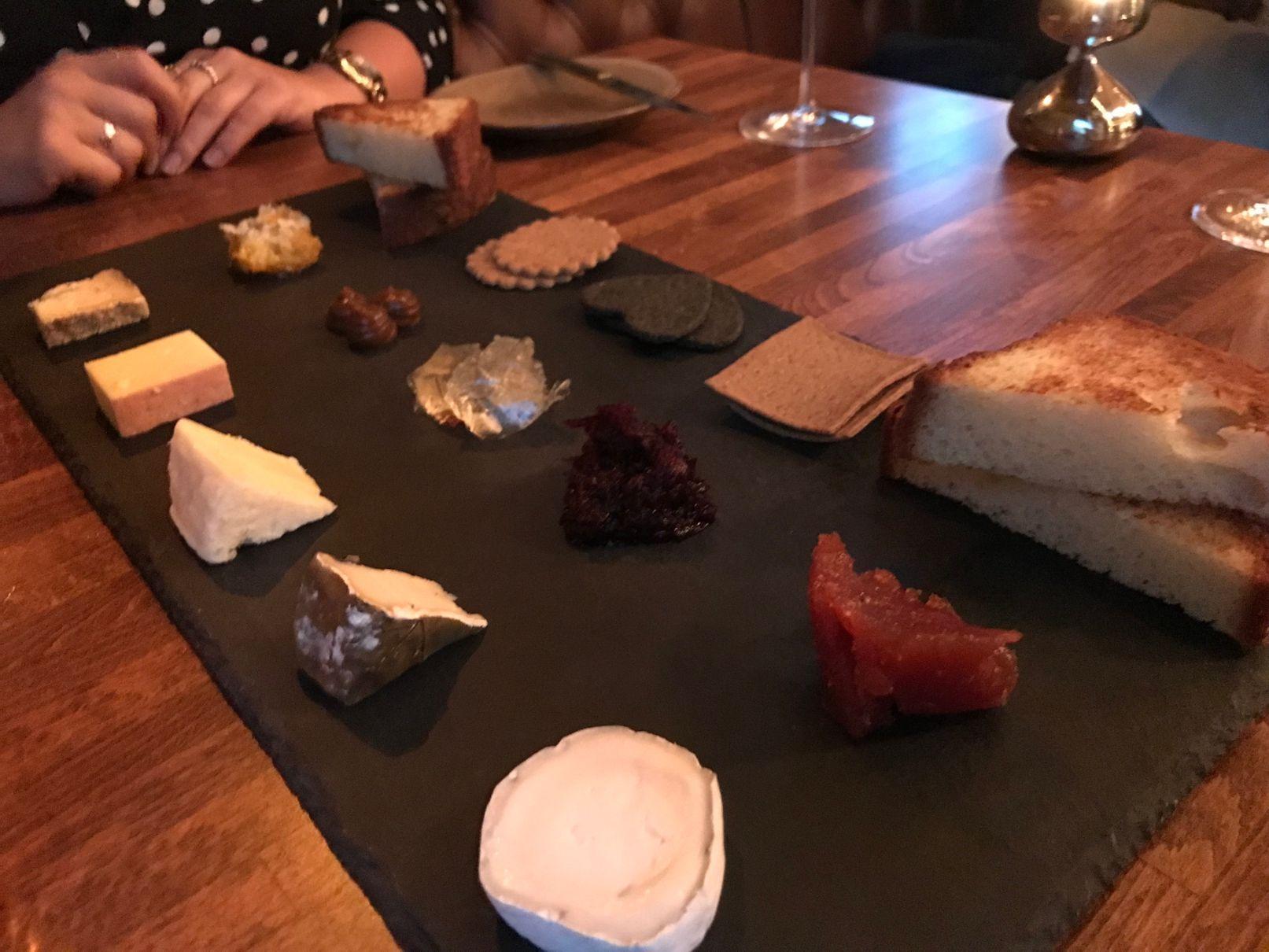 Cheese board at Sosban Llanelli