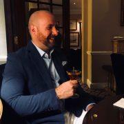 Me enjoying a martini at Dukes Bar London