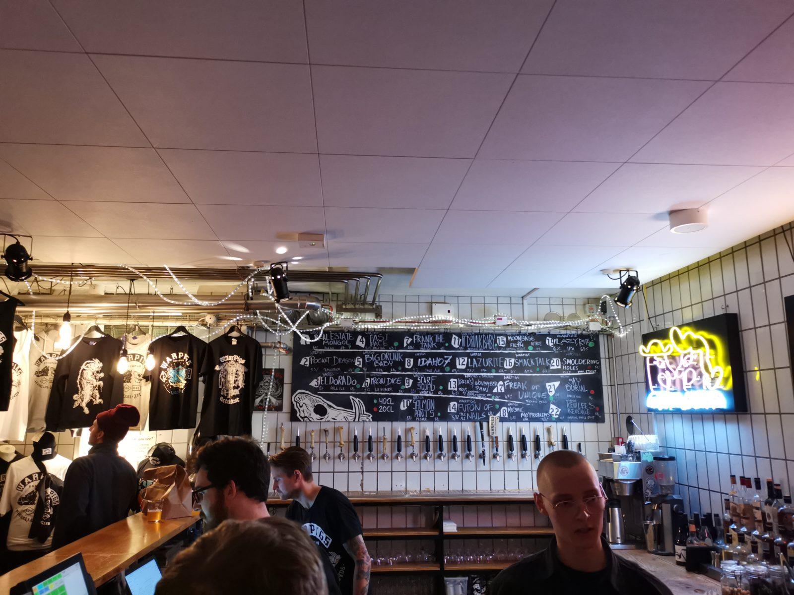 Mikkeller beers at Warpigs Copenhagen