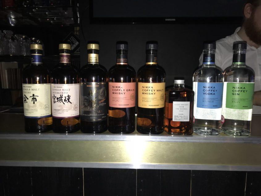 Nikka whisky and gin tasting at lab22 Cardiff