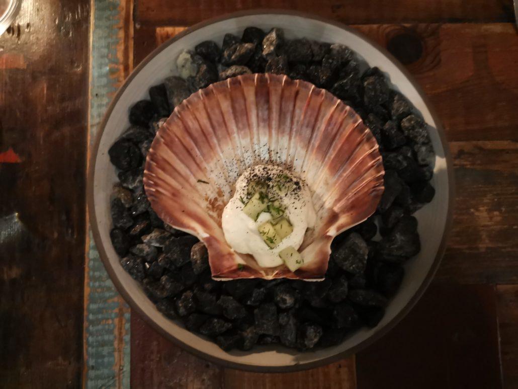 Scallop dish at Host Restaurant Copenhagen