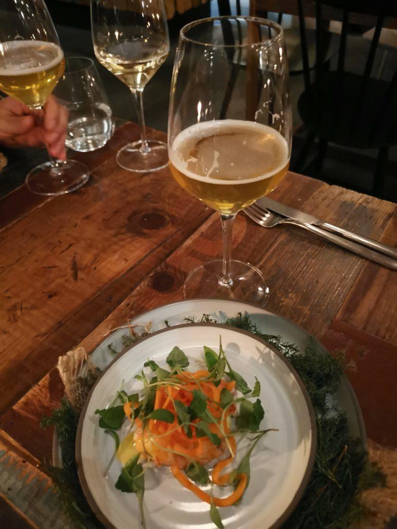 Norwegian lobster on Host taster menu Copenhagen