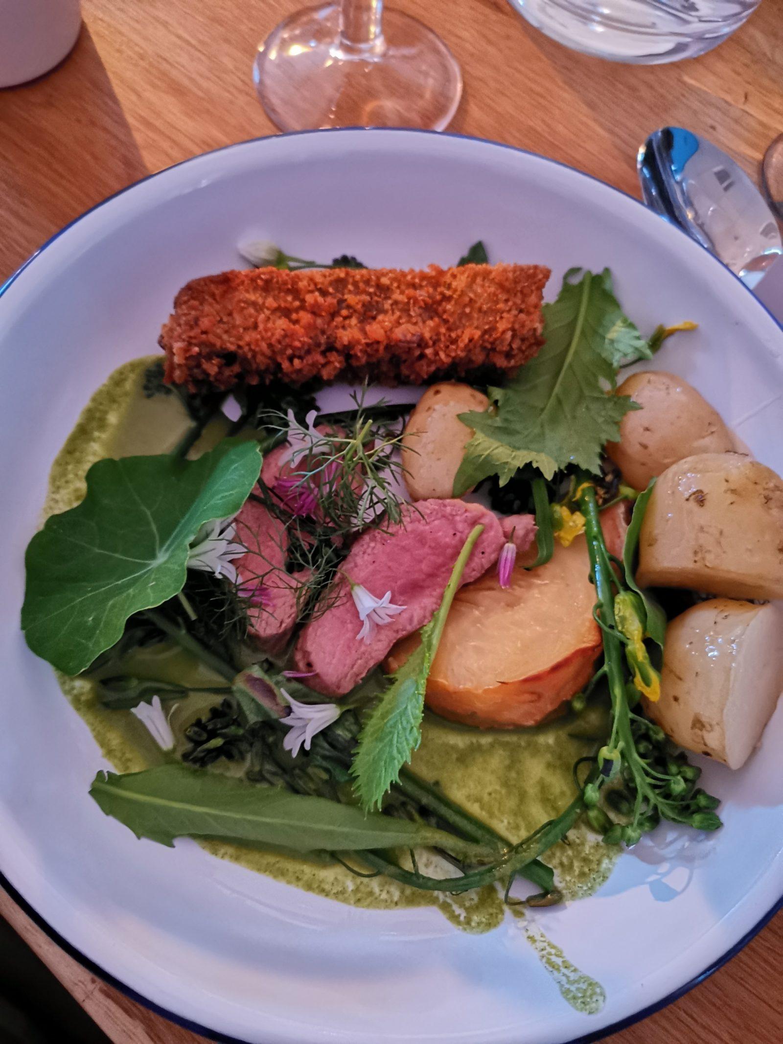 Welsh Lamb main at Tide Restaurant launch, Halen Mon